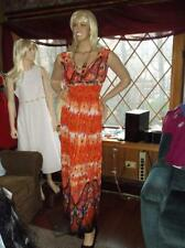WOMAN'S L /  XL (16, 18,20 ) MAXI DRESS WITH BUTTERFLY DESIGN BY BEAUTIFUL YOU