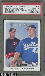 1996 Best All-Star Carolina-Modesto Sponsors Sean Casey RC Ron Wright PSA 9