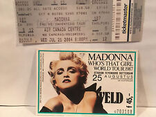 Madonna Concert Ticket Stubs Rotterdam & Toronto Rare