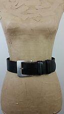 ESPRIT Women Belt 80 CM / 32 Brown Cow Leather Antique Silver Buckle Wide Waist