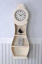 Swedish Mora Watch White Wall Clock Shabby Chic Grandfather Clock Wall Shelf