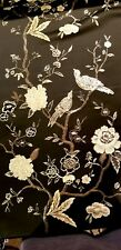 SPECTACULAR Black-Gold Chinoiserie Jacquard! Birds and Branches! So Lux!!