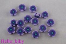 200 pcs Purple fimo polymer clay flower beads 8mm M402