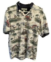 Boca Shirt Classics Club Golf Men's Medium Polo Christmas Santa Short Sleeve