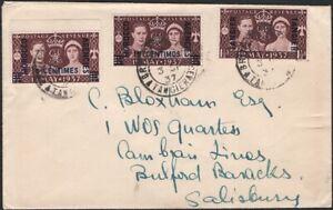 GREAT BRITAIN, 1937. Cover Morocco Agencies 82 (3), BUlford Barracks