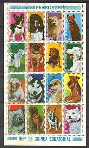 Equatorial Guinea Block-Dogs.CTO-MNH.