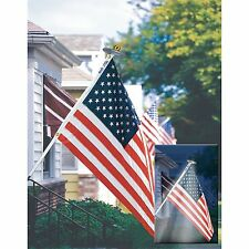 Annin Mansion 3 x 5 US Flag With 6' Pole And Solar Light Set New!!