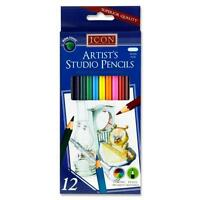 12 GRADED PENCILS DRAWING SKETCHING TONES SHADES ART ARTIST PICTURE PENCIL DRAW