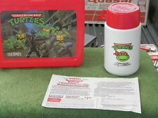 Vintage Nos Thermos Teenage Mutant Ninja Turtles Plastic Lunchbox W/Thermos