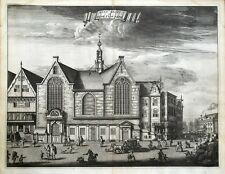 AMSTERDAM, SINT OLOFSKAPEL, Caspar Commelin original antique print 1693