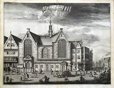 AMSTERDAM, SINT OLOFSKAPEL, Caspar Commelin original antique print 1693