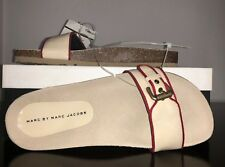 NIB RARE! Marc By Marc Jacobs Buckle Sandals/Slides Ivory/Red, Size 9.5M, 39.5EU