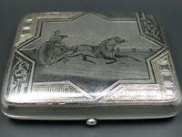 Russland Zigarettenetui 84 Zolotniki 875 Tula Silber Jugendstil von 1895
