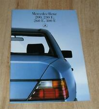 Mercedes 200E 230E 260E 300E W124 Saloon Car Brochure 1986