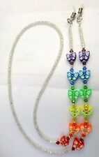 Made With Swarovski Crystals ! ! Butterfly Butterflies Eyeglass Chain