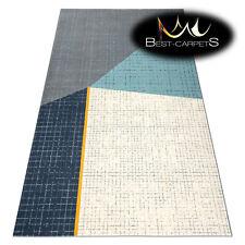 TRENDY Thick Carpets STYLISH MODERN RUG 'SCANDI' grey cream trapeze cheap Carpet