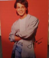 JOEY LAWRENCE SIGNED 8X10 PHOTO BLOSSOM W/COA+PROOF RARE WOW