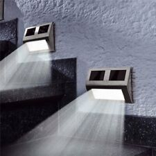 SUPER BRIGHT SOLAR POWERED DOOR FENCE WALL LIGHTS LED OUTDOOR GARDEN LIGHTING EN