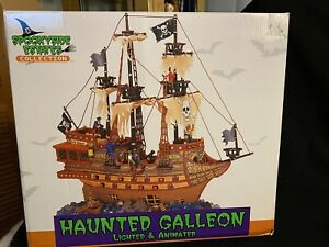 Lemax SPOOKY HOLLOW Haunted Galleon 2003 Halloween Ghost Ship W/ Box