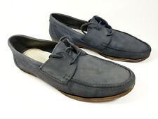 Ask the missus navy leather loafers uk 8 eu 42