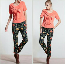 ANTHROPOLOGIE NADINOO Hydrangea Print Poplin Ankle Pants Sz 6