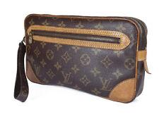 LOUIS VUITTON Marly Dragonne Monogram Canvas Leather Pochette Clutch Bag LP2910