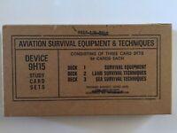 VINTAGE VIETNAM WAR AVIATION SURVIVAL EQUIPMENT SET OF 3-DECKS OF CARDS UNOPENED