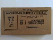 Vintage Vietnam War Aviation Survival Equipment Set Of 3-Decks Of Cards Unopened