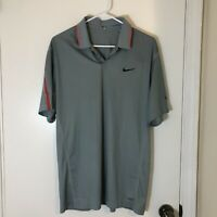 Nike Tiger Woods Collection Dri-Fit Mens Golf Shirt Size Medium Short Sleeve