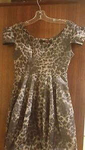 Stunning KUKU ladies animal print party dress (size 8)