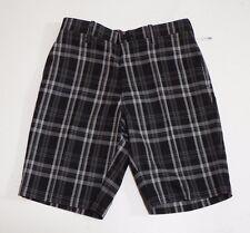 Men Golf Shorts flat Front Black and Grey Hagger H26 Size 32 Slip Pockets