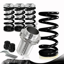 For 90-97 Honda Accord Black Adjustable Front+Rear Coilover Lowering Spring Set