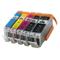 5x Ink Cartridge PGI 270 CLI 271 Compatible For Canon PIXMA MG5720 MG5721 MG5722
