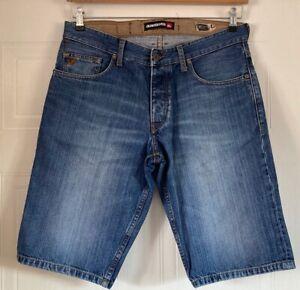 MENS Quiksilver Denim Shorts Size 34 Waist