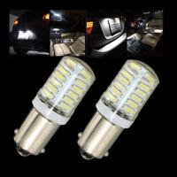 2Pcs 12V T4W BA9S T11 3014 24-SMD LED Car Side Light Bulb Interior Lamp White
