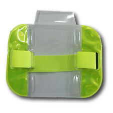 Clear SIA Security Reflective Arm Band Photo ID Card Case Badge Holder yellow