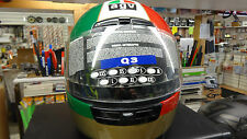 New AGV AGO Agostini Motorcycle Italian Flag Helmet 1998 Size US S Euro 55
