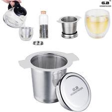 Teesieb Teefilter mit Deckel Edelstahl rostfrei für Tassen und Kannen