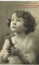FRANCE ANTIQUE CPA CARTE POSTALE POSTCARD LA PREMIERE PRIÈRE : PRAYING