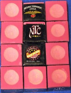 National Tournament Chalk ~ NEW ~ Vintage By Gandy ~ color: PINK ~ 12 pieces