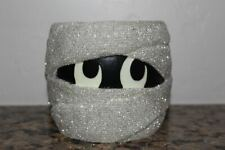 Bath & Body Works Mummy Glow in the Dark Eyes~3 Wick Candle Holder~Halloween~