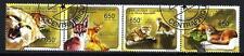 Animaux Chats sauvages Centrafrique (149) série complète 4 timbres oblitérés