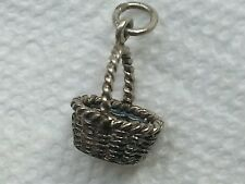 Decorative collectible pewter Easter basket pendant