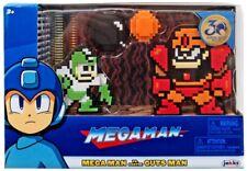 Mega Man Classic 8-Bit Green / White MegaMan vs Guts Man Mini Figure 2-Pack