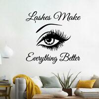 Sexy Beautiful Cute Big Eye Lashes Wall Mural Vinyl Art Sticker Room Home Decor