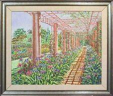 "Joel M Roman ""Huntington Arbor"" Original Oil Painting on Canvas, Make An Offer!"