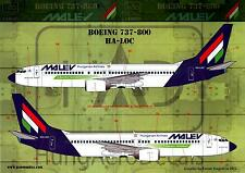 Hungarian Aero Decals 1/144 BOEING 737-800 Malev Hungarian Airlines