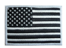 US ARMY MILITARY PATCH iron on American forces monochrome USA soldier flag badge