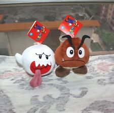 2pcs Super Mario Bros game Soft Toy Goomba Plush Stuffed animal Dolls Boo Ghost