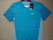 NWT Nike Nadal Rush and Crush Victory Blue Tennis Shirt Federer 373615-481 Med